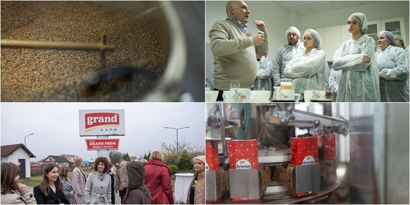 ODRŽANO STUDIJSKO PUTOVANJE: Novinari obišli proizvodni pogon Grand kafe u mjestu Glavičice kod Bijeljine