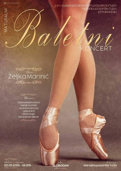 Najavljujemo u Tuzli: Maturalni baletni koncert u klasi prof. Željke Marinić