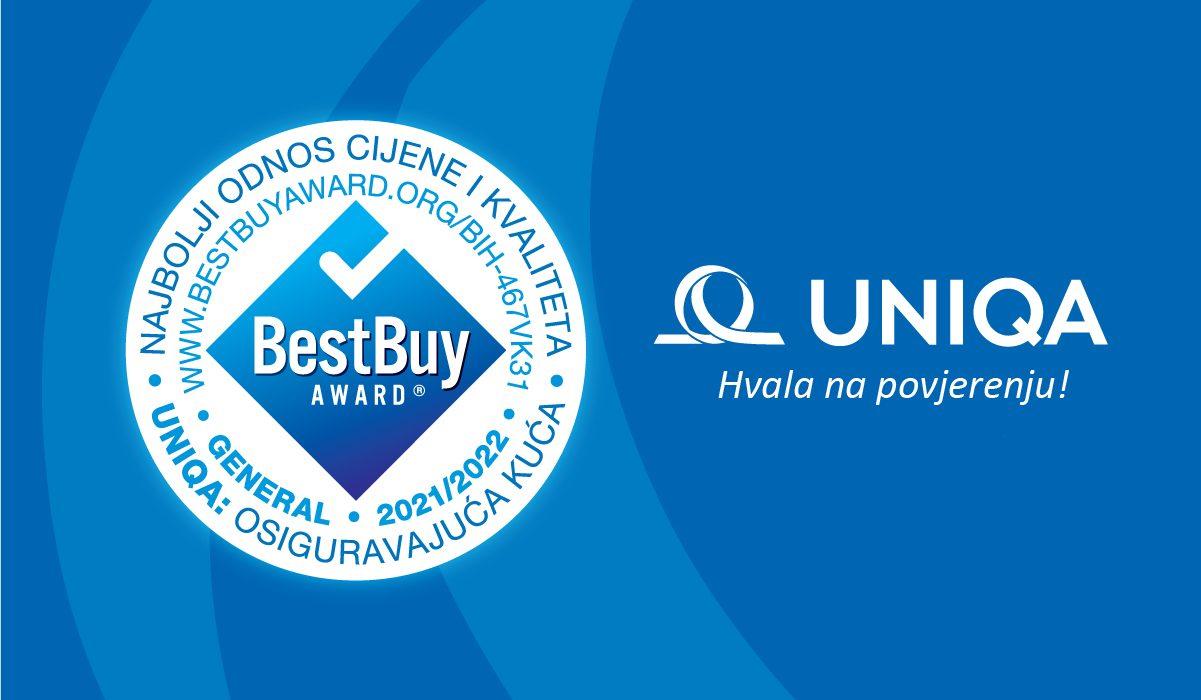 UNIQA Osiguranje dobitnik nagrade Best Buy Award za Bosnu i Hercegovinu